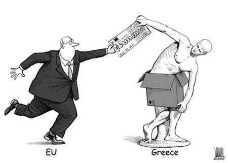 Karikatura: Pregovori grčke vlade i stranih banaka