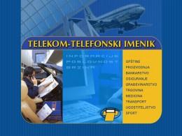telekom telefonski imenik