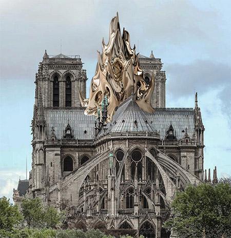 Vulkanski kamen na katedrali